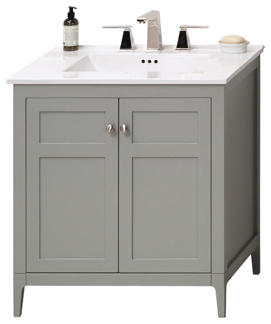 Ronbow Briella Solid Wood 30 Vanity Set With Utility Sink
