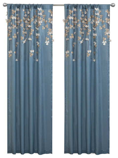 Flower Drops Window Curtain Curtains By Lush Decor