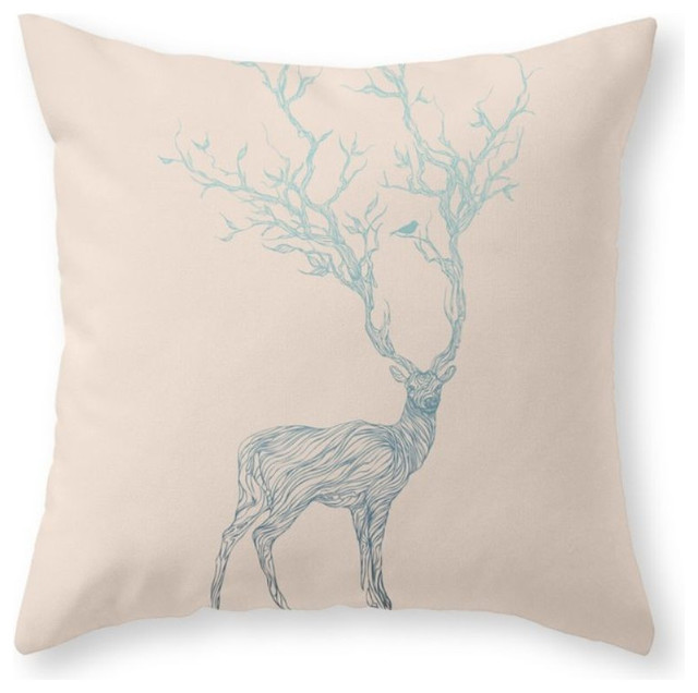 Blue Deer Throw Pillow Cover Rustic Decorative Pillows