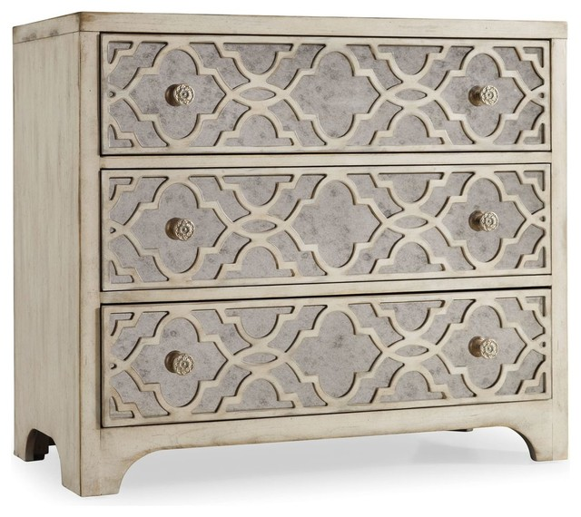 Attractive Claude Fretwork Pearl Essence Chest Mediterranean Accent Chests And Cabinets
