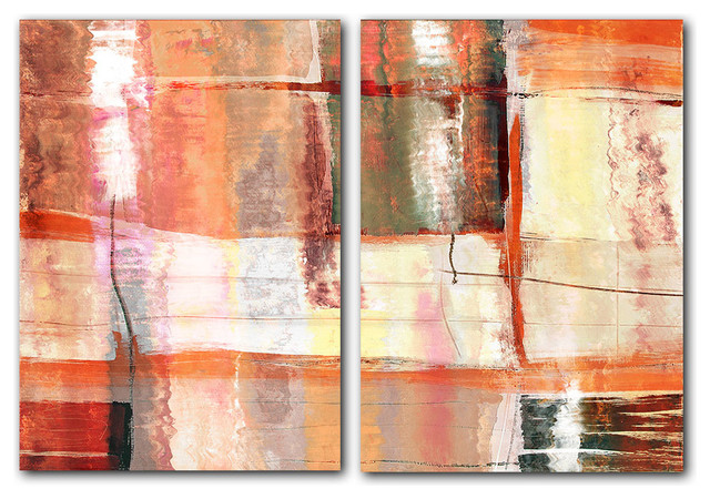 Oversized Abstract 2-Piece Canvas Wall Art.