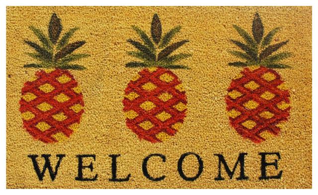 """""""Welcome"""" Pineapple Doormat"""