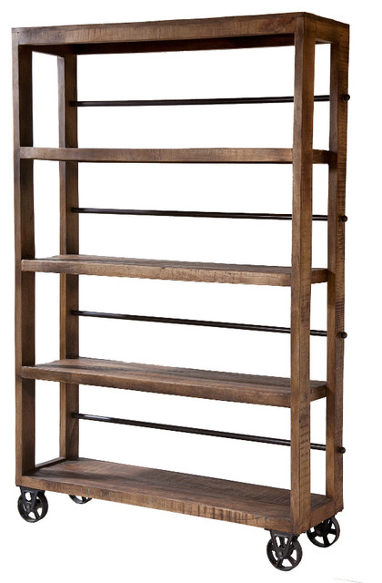 Hayden Rolling Wood Shelving Unit