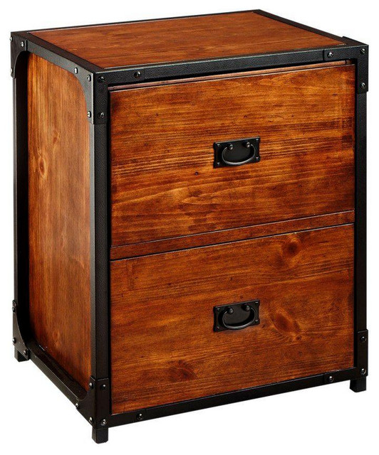22.5 in.W Black 2-Drawer Vertical File Cabinet - Traditional - Filing Cabinets - by Luxe Home ...