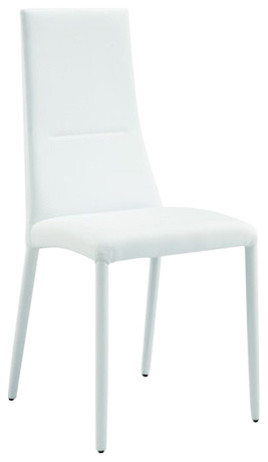 Pharaoh Leather Chairs, Set of 2, White