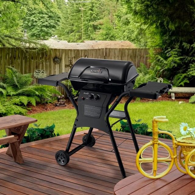 Char Broil Quickset 2 Burner Fast Embly Gas Grill 463666115 Contemporary Outdoor Grills By Hayneedle