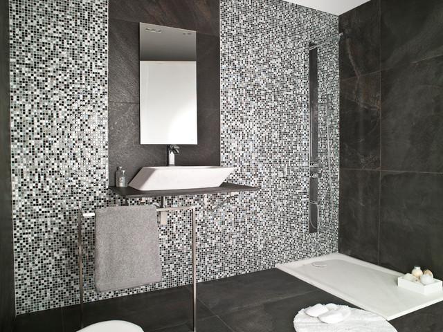 Imperia Mix Silver Grey Modern Bathroom New York By