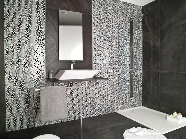 Exceptional Imperia Mix Silver Grey Modern Bathroom