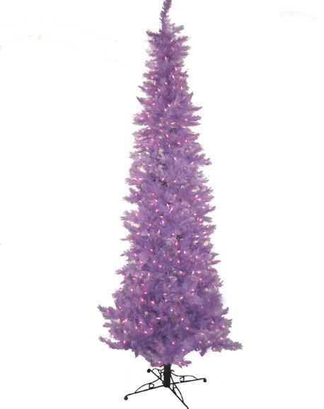 pre lit vivid purple slim lakewood spruce artificial christmas tree 75 - Pre Lit Pencil Christmas Trees