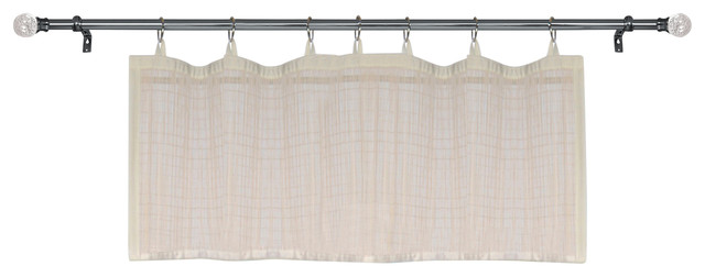 Bamboo Micro Sheer Panel, 48 X 12,off-White.