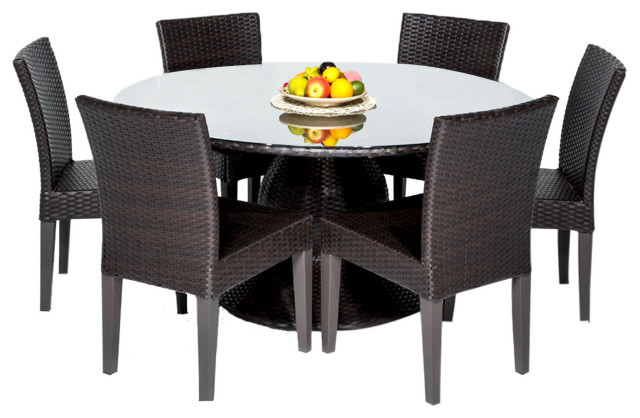 Napa 60 Outdoor Patio Dining Table, 60 Round Outdoor Dining Table