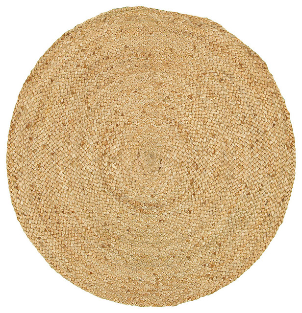 Natural Jute Natural Indoor Round Rug, 8'