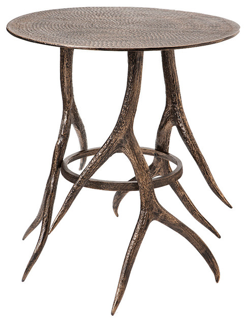 Antler cafe table rustic outdoor coffee tables by for Rustic outdoor wood coffee table