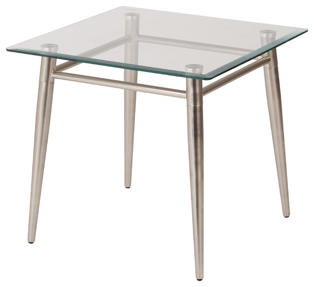 side tables for office. brooklyn clear tempered glass square top end table with nickel brushed legs midcenturyside side tables for office