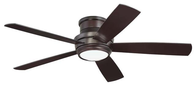 "Craftmade 52"" Tempo Hugger Ceiling Fan, Oiled Bronze."