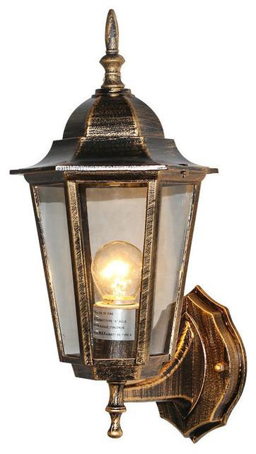 Patio porch exterior lantern wall sconce outdoor bronze wall lamp ...