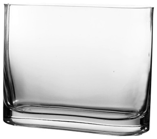 Cys Rounded Rectangular Glass Vase Contemporary Vases By Cys