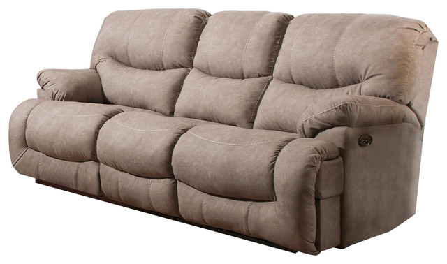 Simmons Upholstery Palermo Shale Power Double Motion Sofa.