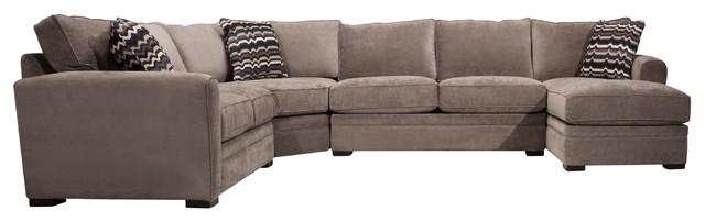 Artemis Ii 4 Pc Microfiber Sectional Sofa