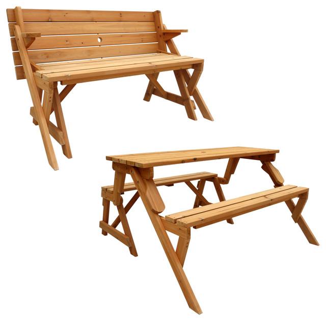 Leisure Season Ltd Convertible Picnic Table And Garden