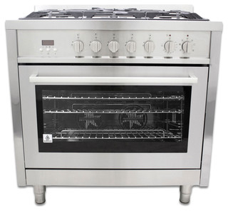 "Dual-Fuel Range, Natural Gas, 36"" contemporary-gas-ranges-and-electric-ranges"