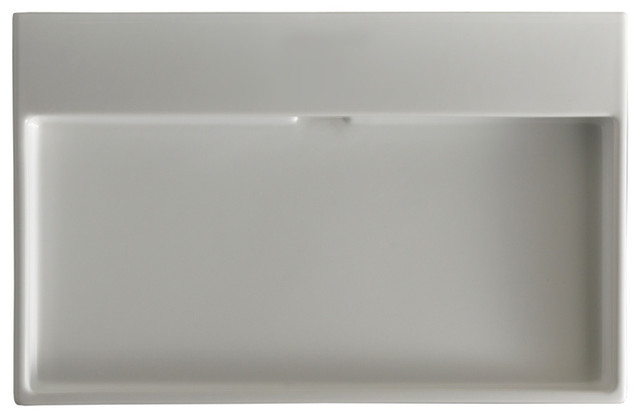 Urban 70 Ceramic Sink 27.6, Without Faucet Hole.
