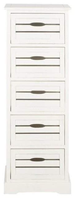 Safavieh Sarina Pine 5 Drawer Cabinet, Gray.