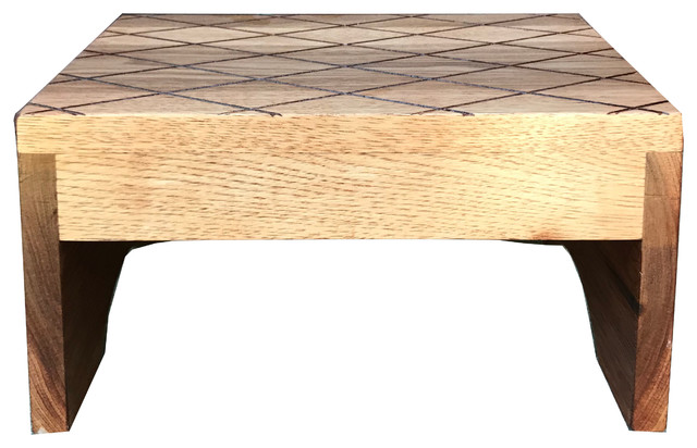 Astounding Wood Step Stool Footstool By Cw Furniture Tall And Wide Custom Caraccident5 Cool Chair Designs And Ideas Caraccident5Info