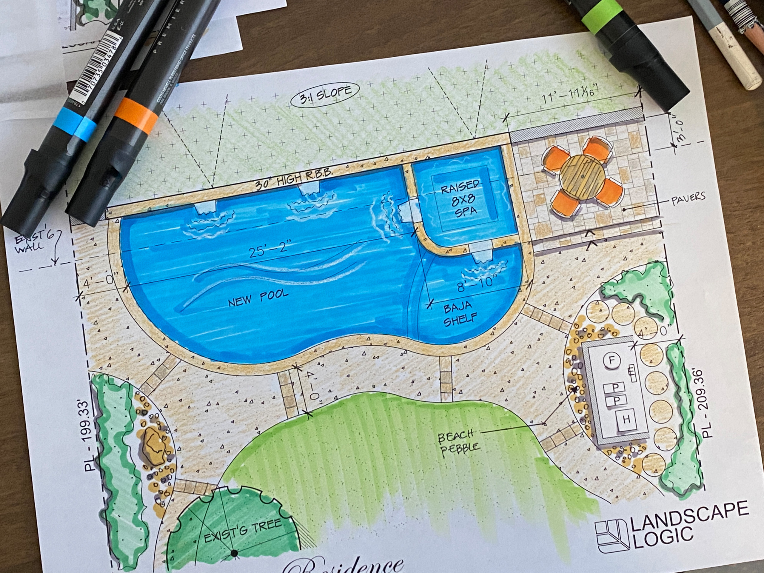 A New Pool Design with Seating