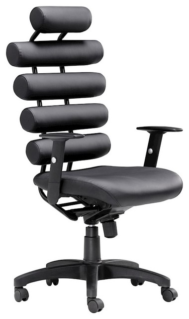 zuo modern unico office chair, black, 205050 - contemporary