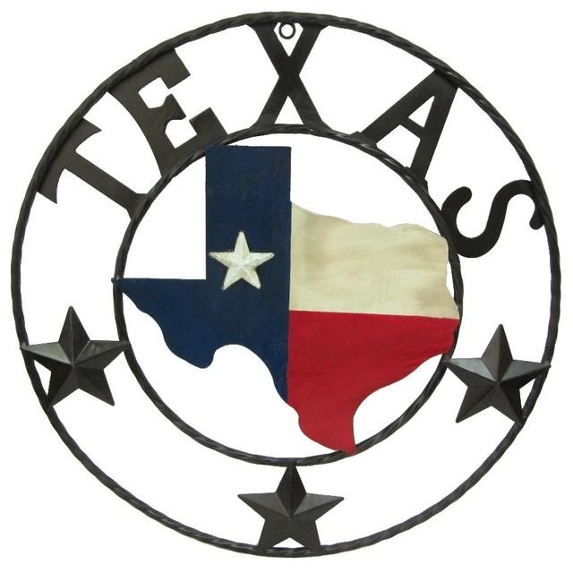 "Metal Texas Map 22""."