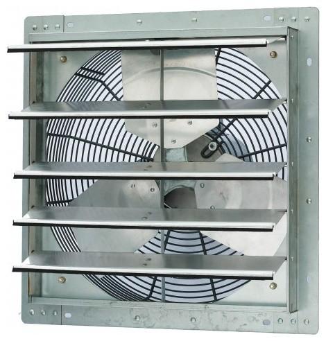 ILIVING Single Speed Shutter Exhaust Fan WallMounted Industrial - Industrial bathroom fan