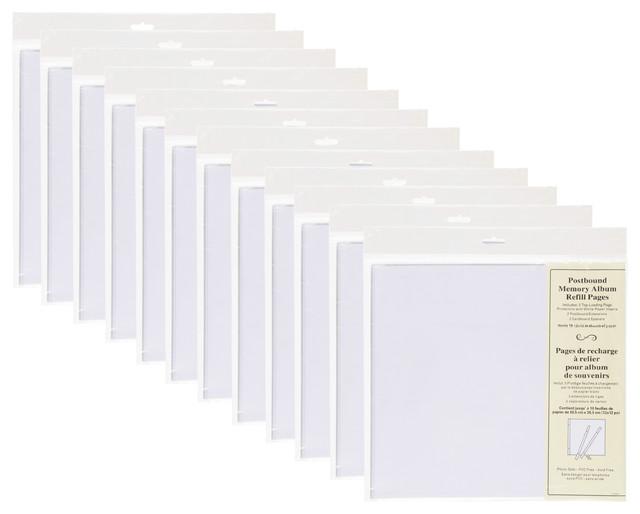 Designovation Postbound 12x12 Scrapbook Refill Pages 5 Pack Set