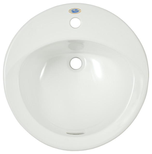Ultimate 1-Hole Self-Rimming Sanagloss Sink.