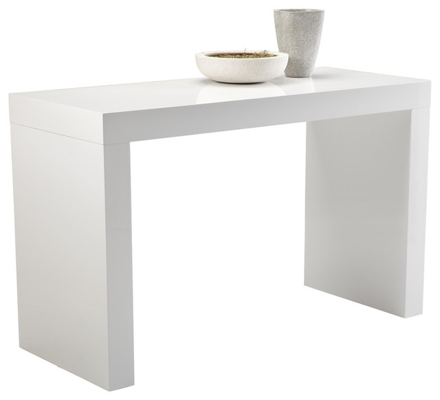 Sunpan Ikon Faro C-Shape Counter Table, White.