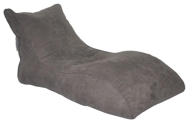 The Slacker, Bean Bag Chair, Gray.