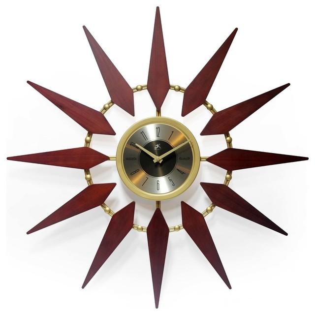 Orion Mid Century Modern Vintage Starburst Wall Clock