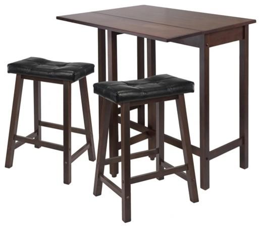 Lynnwood 3 Pc Drop Leaf Kitchen Table Set Transitional