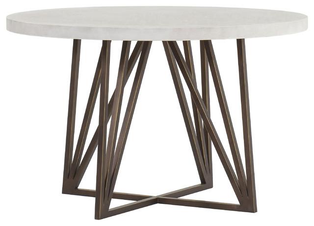 Sensational Maison 55 Emerson Modern Classic Concrete Top Metal Dining Table Small Machost Co Dining Chair Design Ideas Machostcouk