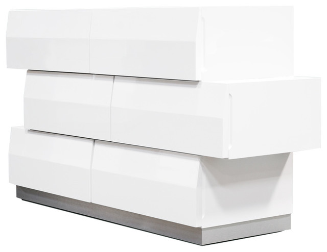 Furniture Import & Export Inc. - Spain Modern White Zigzag 6 ...