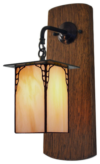 Foyer Lighting Mission Style : Mission studio craftsman style wall sconce