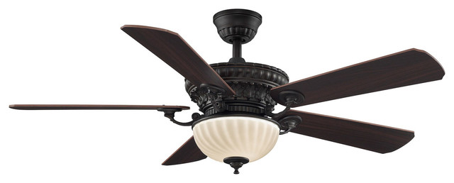 Ventana 2-Light Indoor Ceiling Fans, Dark Bronze.