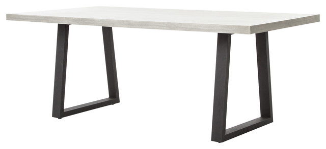 Maceo Modern Classic Rectangular Concrete Metal Dining Table 79