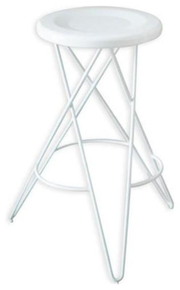 tornado metallic white bar stool coated metal wire frame u0026 white seat white