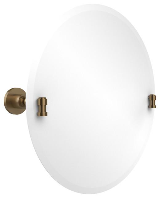 Frameless Round Tilt Mirror With Beveled Edge Bathroom Mirrors By Avondale Decor Llc