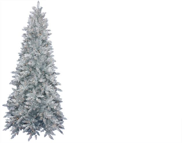 Pre-Lit Ashley Spruce Artificial Tinsel Christmas Tree