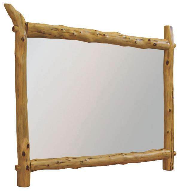 Rustic Red Cedar Log Dresser Mirror Frame