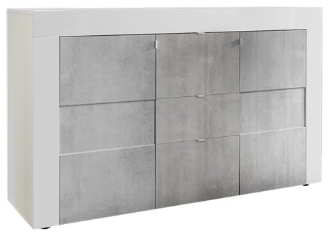 Easy 2-Door II and 3-Drawer High Gloss Sideboard, 138 cm