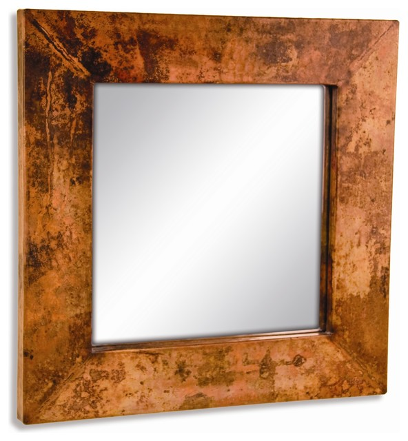 Small Square Copper Mirror - Wall Mirrors - by Timeless ...