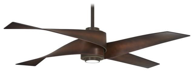 "Minka Aire Artemis IV 64"" LED Ceiling Fan, Oil Rubbed Bronze"